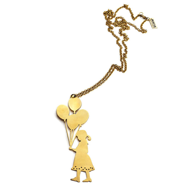 Balloon Girl Necklace
