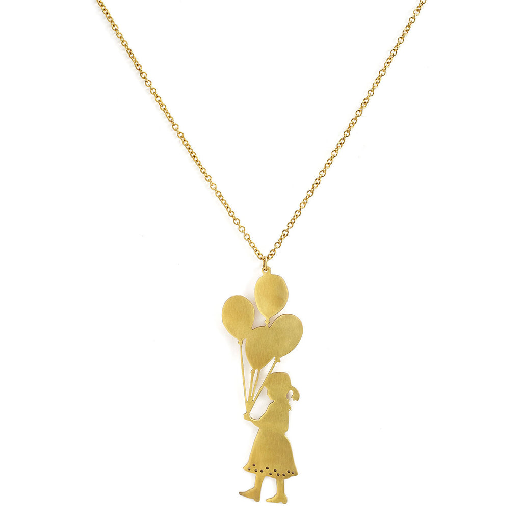 mafia, jewelry, jewellery, accessories, accessory, designer, thailand, bangkok, brass, necklace, doll, balloons, balloon, child, girl, accessorize, long, chain, gold