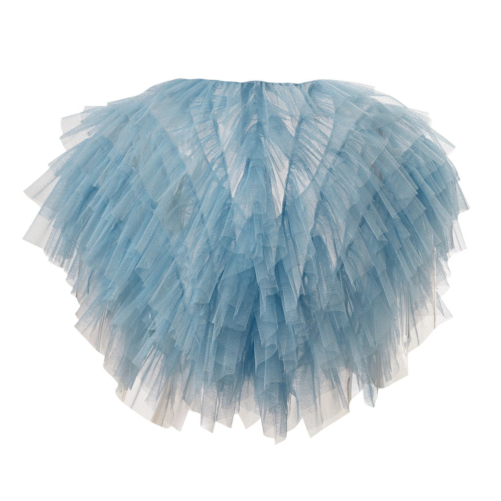 super sweet, supersweet, tulle, glitter, sparkly, sparkle, bolero, moumi, frills, ruffles, blue, powder, dusty, baby, light, pastel