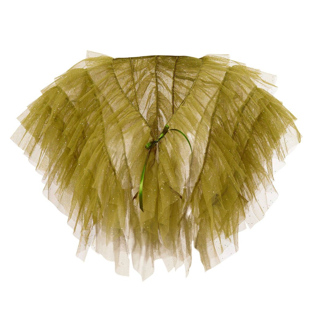 super sweet, supersweet, tulle, glitter, sparkly, sparkle, bolero, moumi, frills, ruffles, green, olive