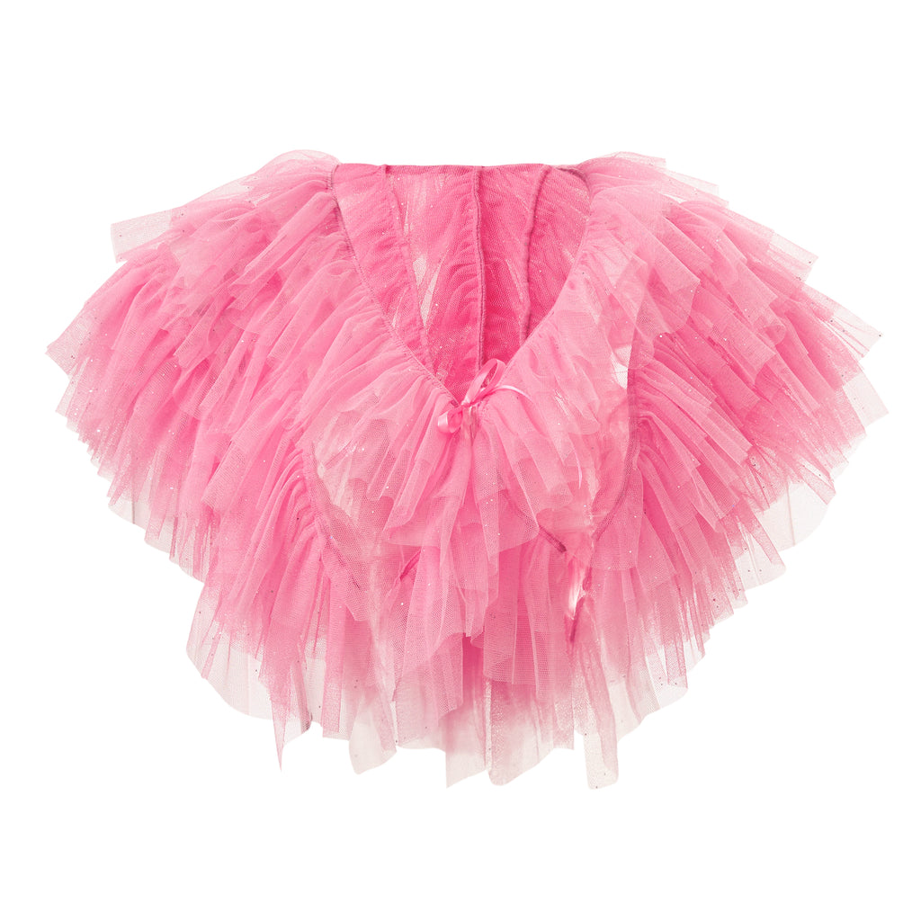 super sweet, supersweet, tulle, glitter, sparkly, sparkle, bolero, moumi, frills, ruffles, baby, pink, sexy, shocking, pastel