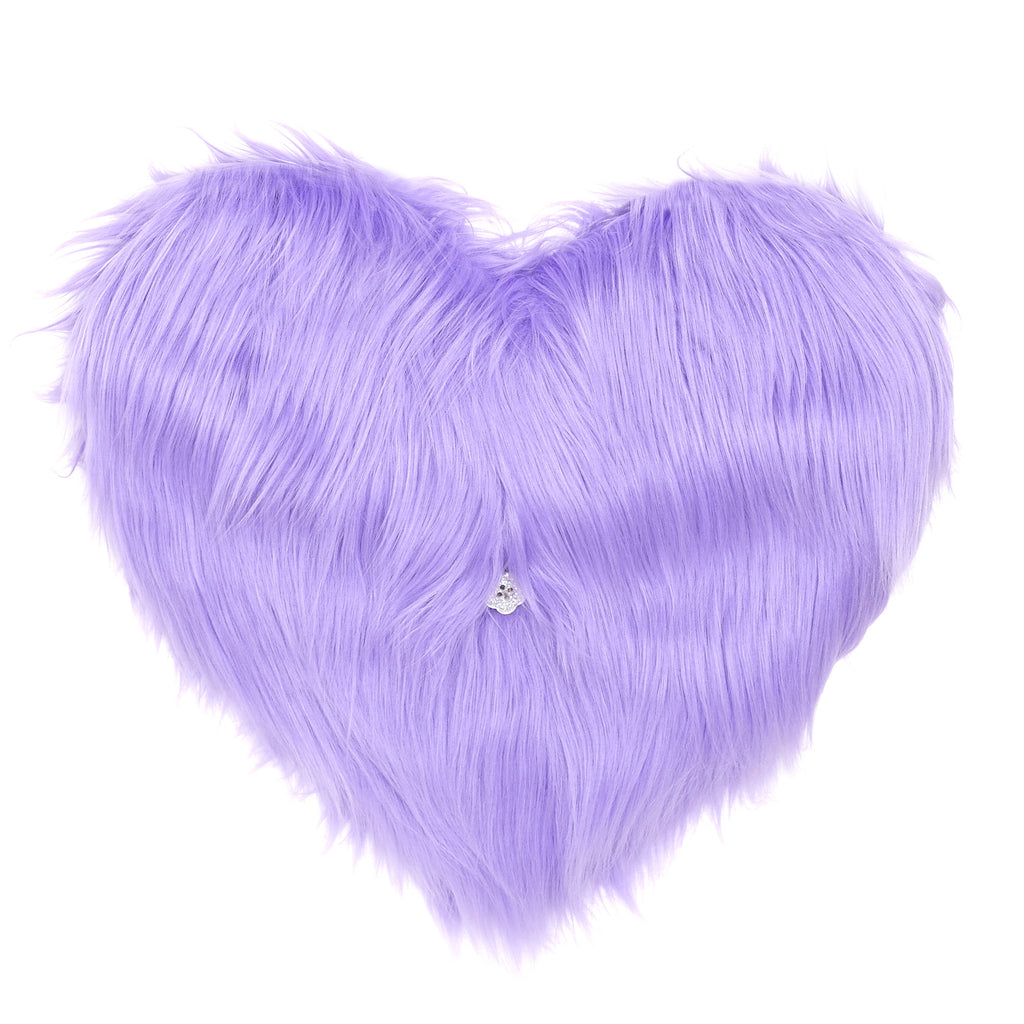supersweet, super sweet, moumi, fur, faux fur, heart, bag, swing, pantone, purple, cotton candy, candyfloss, meow, furry, fun