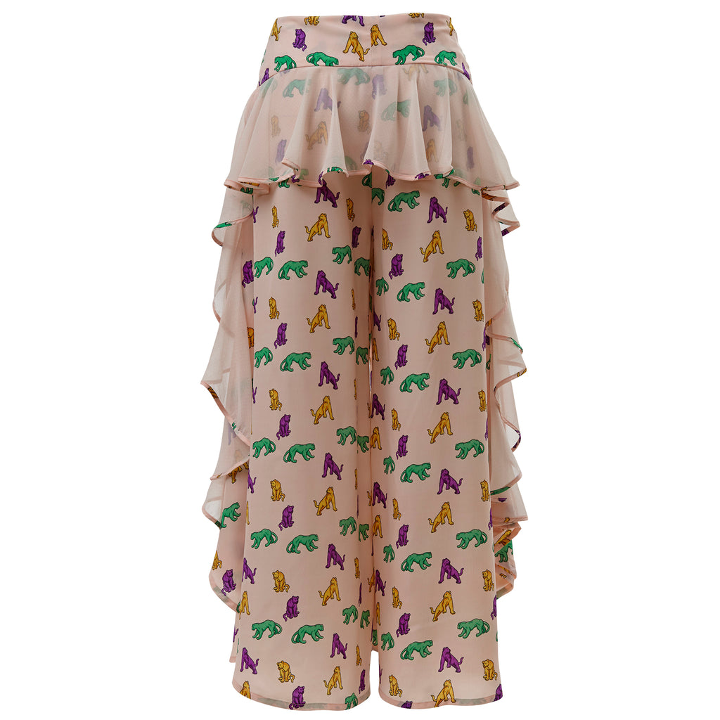 supersweet, moumi, super sweet, shopping, cat, cats, cat lover, cat print, crazy cat lady, meow, kitties, kittens, aw19, supervixen, pink, pastel, culottes, trousers, flares, flounces, frills,,