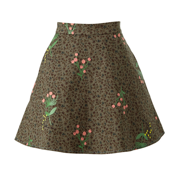 Never-Wake-Up-Berry Melinda Skirt in Green
