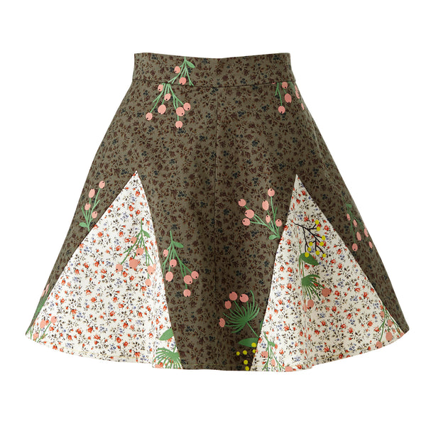 Never-Wake-Up-Berry Rhonda Skirt in Green