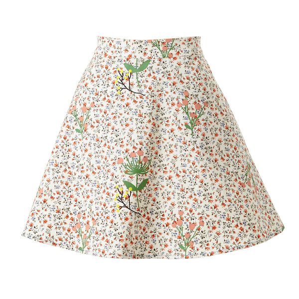 Never-Wake-Up-Berry Melinda Skirt in White