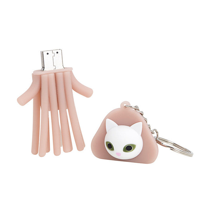 pink, keychain, keyring, cat, jelly fish, squid, usb, 8gb, pvc, silicone, myogi, accessories. supersweet, moumi