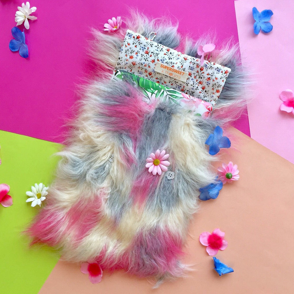 supersweet, moumi, super sweet, fur, pink, ragdoll, faux fur, monster, bag, case, laptop, notebook, computer, accessories, meow, furry, friendly, friend, pet, fun, cream, hairy