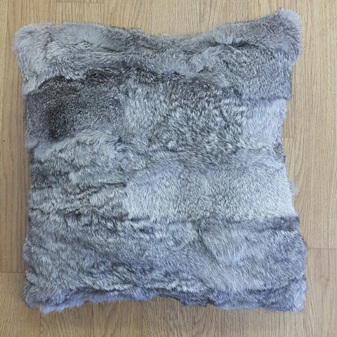 The Design Edge Rabbit Fur Cushion