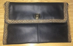 Coil Leather Clutch Bag