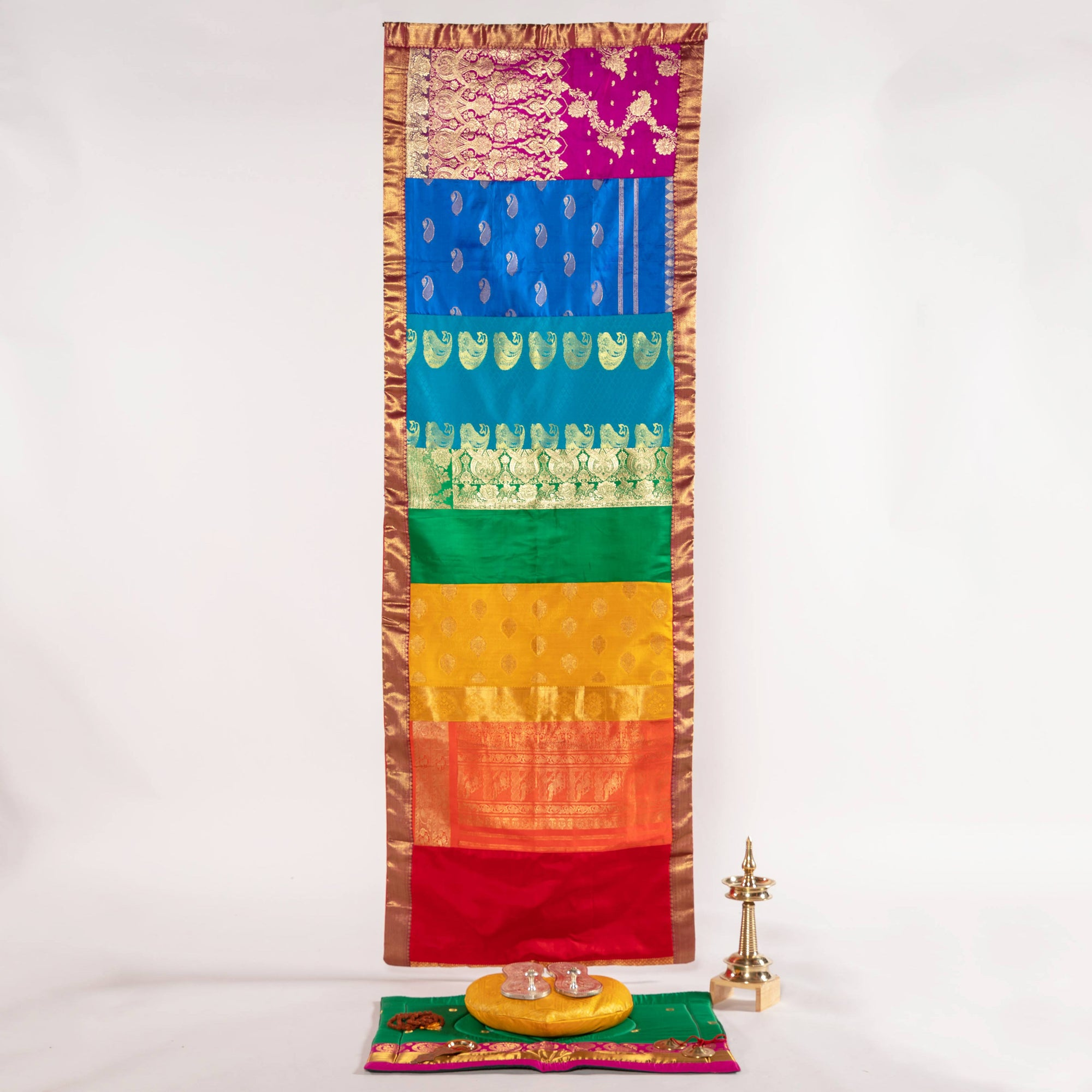 "80"" Sacred Sari Chakra Rainbow Wall Hangings - Limited Edition"