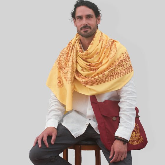 Amma Mantra Meditation Shawl