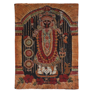 "Varanasi Batik Wall Hanging Art — 72"" Kali Ma Goddess Collection"