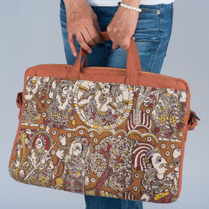 Kalamkari Block Print Laptop Shoulder Bag