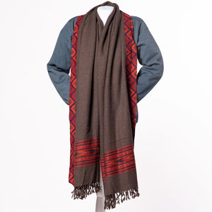 Men's Handloom Kullu Wool Meditation Shawl