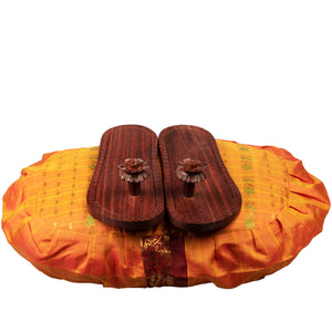 Wooden Lotus Feet Paduka