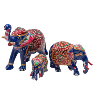 Royal Elephant Meenakari-Art Figurines