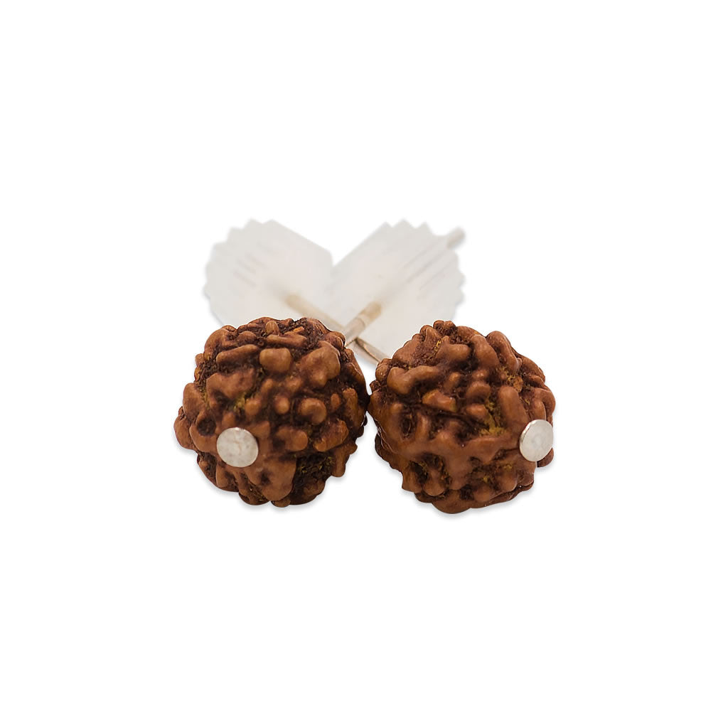 Rudraksha Stud Earrings