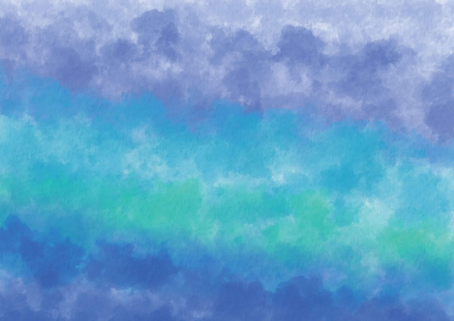 Watercolor Ombre Blue