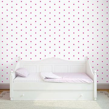 Tapeta Small Dots pink