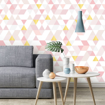 Triangles Coctail pink&gold