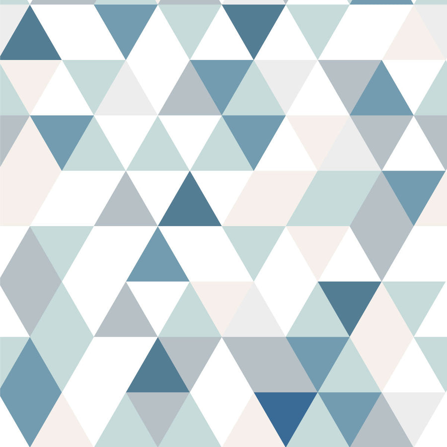 Triangles Coctail blue