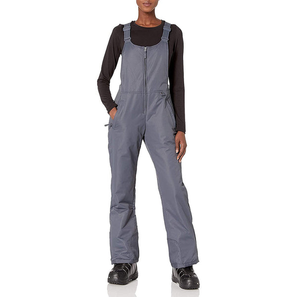 Women's Insulated Overalls Solid Color Pocket Waterproof