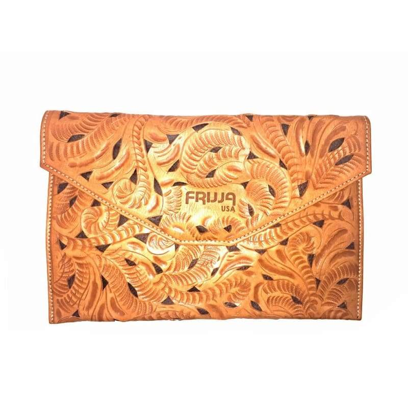Bags & Handbags - frijja.com - Authentic Leather Clutch Purse Country Western Handbag