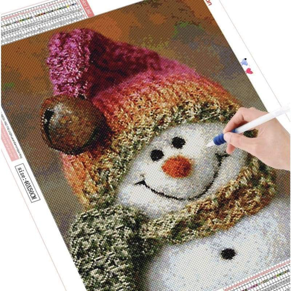 Handmade - frijja.com - DIY 5D Diamond Painting Full Square Crafty Snowman Tools Included