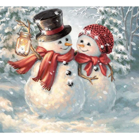 Handmade - frijja.com - DIY 5D Diamond Painting Full Square Winter Snowman Tools Included
