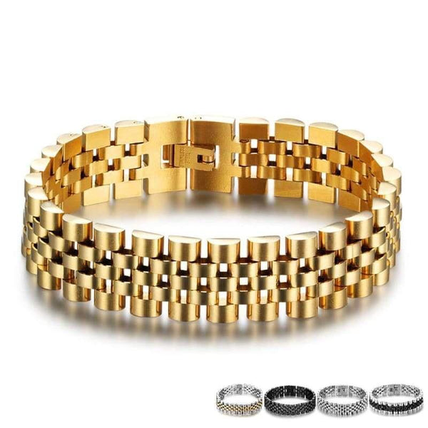 frijja.com - Stainless Steel Bracelet Wristband Men Jewelry