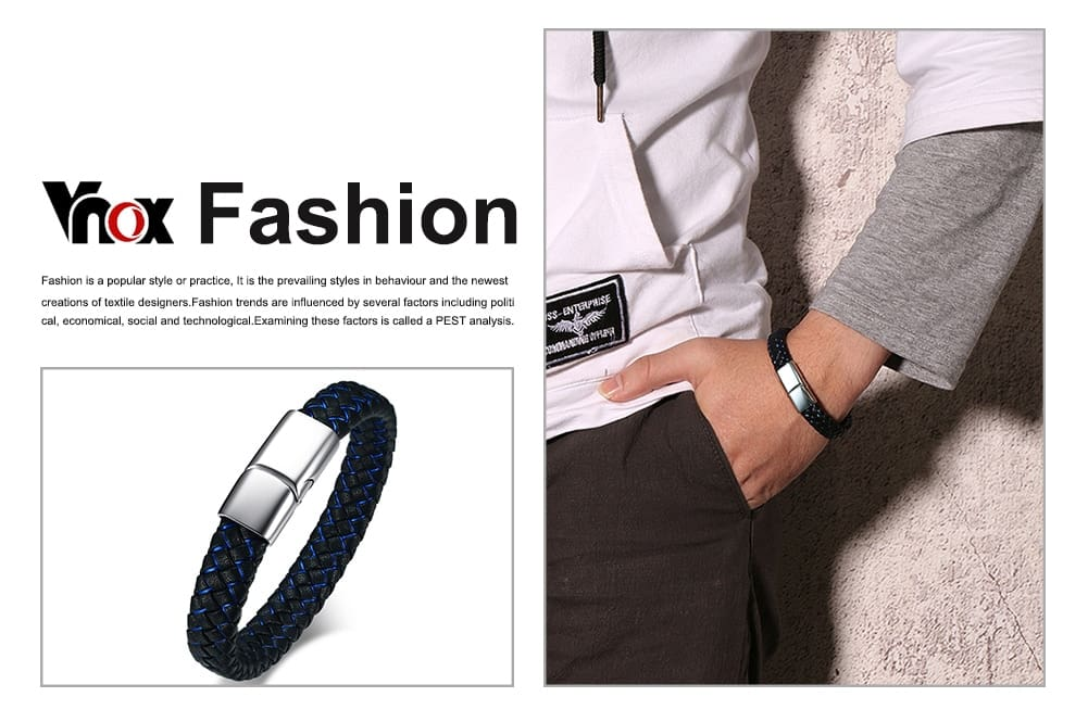Men Leather Bracelet Bangle