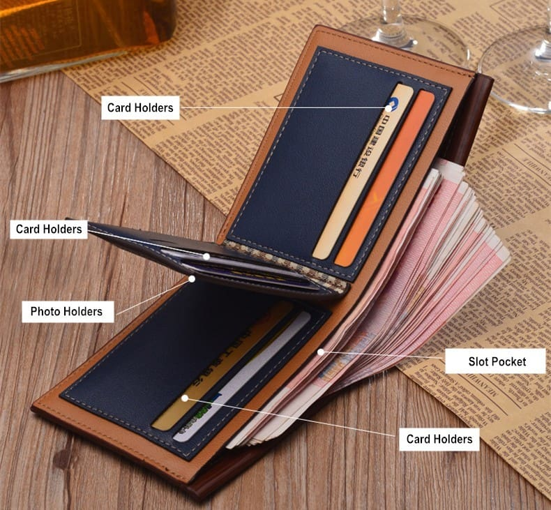 Men Leather Brand Luxury Wallet