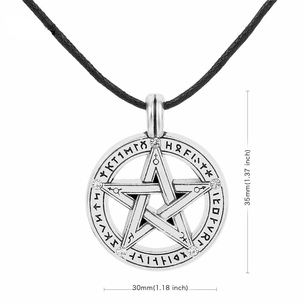Silver Alloy Pentagram Necklace