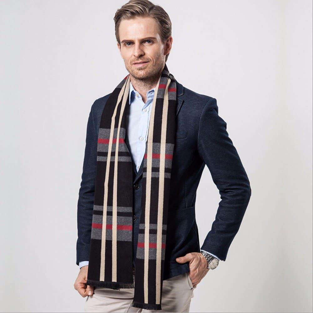 Mens Winter Cashemere Elegant Business Scarf