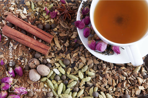 Organic Persian spiced tea with rose, cardamom and black tea