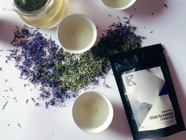 [Black label] Organic Karigane Green Tea Evening Blend 30g - Taste Kaleidoscope