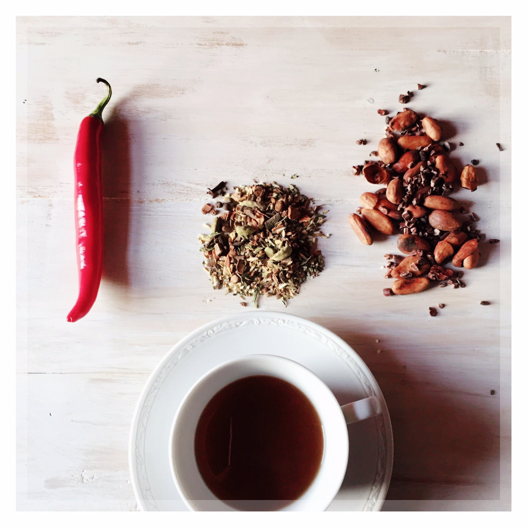 Spiced Tea No.4 - Incan Chocolate 50g BACK MAY 2020 [Cacao Nibs , Sweet Spices & Chilli] - Taste Kaleidoscope
