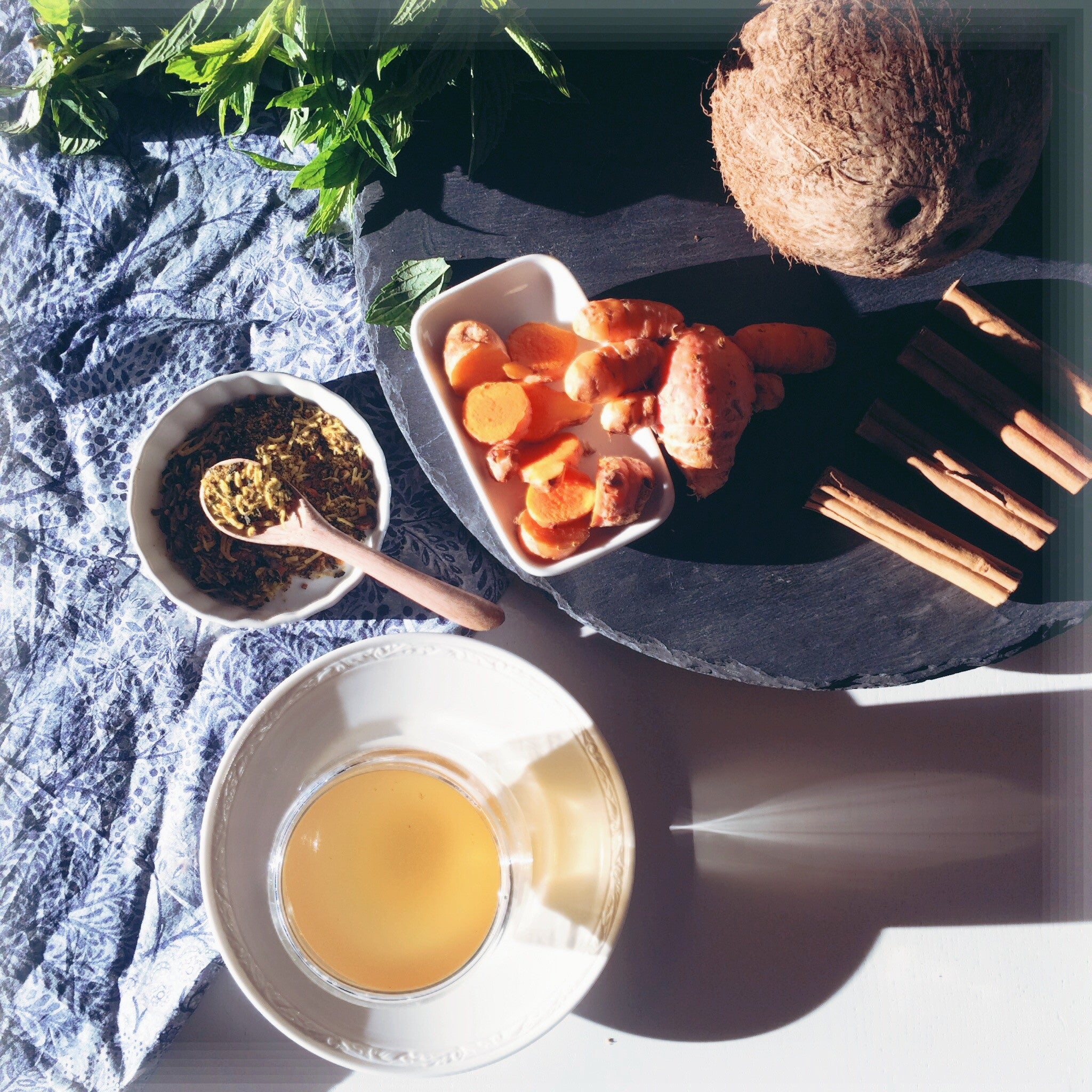 Spiced Tea No.5 - Royal Thailand 60g [Golden Turmeric, Coconut & Mint] - Taste Kaleidoscope