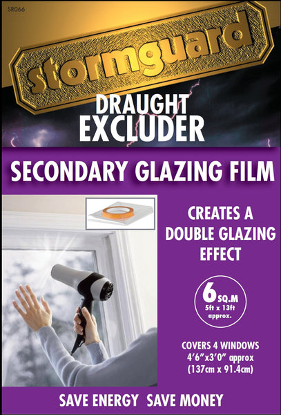6 SQUARE METRE DIY SECONDARY GLAZING FILM KIT (IDEAL FOR ALL TYPES OF WINDOWS)