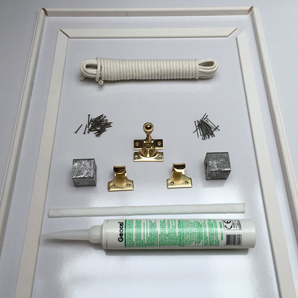DIY Sash Window Draught Proofing Kit To Fit A Sash Window Up To 1.8M High And Up To 1.1M WIDE (Brass Finish Window Furniture Option)