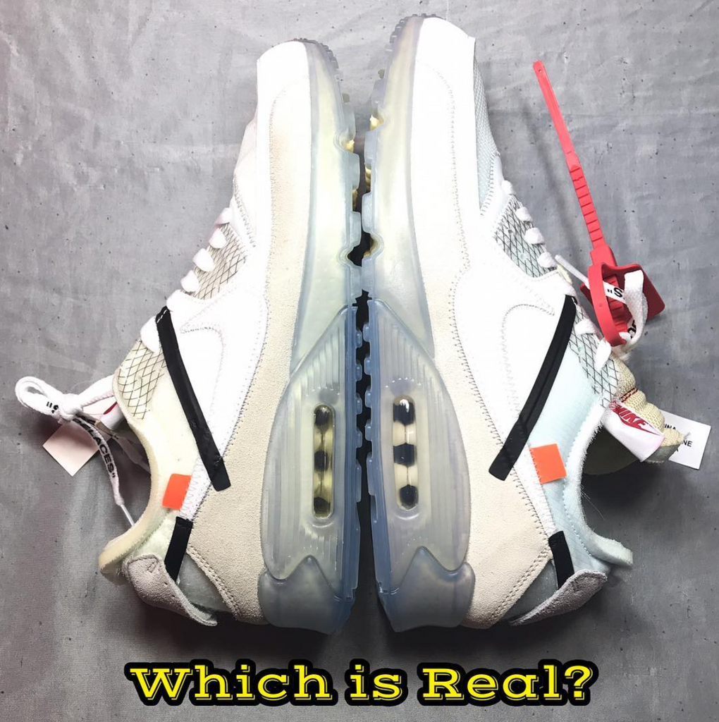 promo code ec26b 7b5c4 Real Vs. Fake - Off-White x Air Max 90