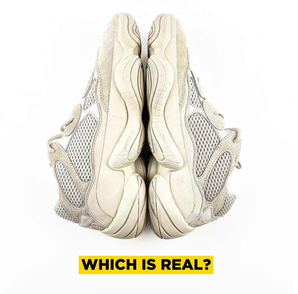hot sale online d2d43 b901b Real Vs. Fake - Yeezy 500 Blush – Kaviar Kicks