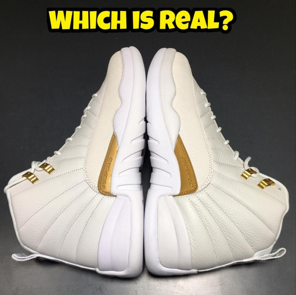 timeless design d26fb de4c0 Real Vs. Fake - Air Jordan 12 Retro OVO by @Fake_Education ...