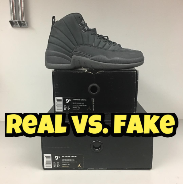 huge selection of 573e3 464d9 Real Vs. Fake by @Fake_Education - Jordan 12 PSNY – Kaviar Kicks