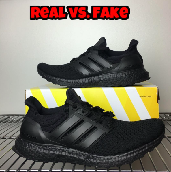 972340661 Real Vs. Fake - Adidas Ultra Boost Triple Black by  Fake Education ...
