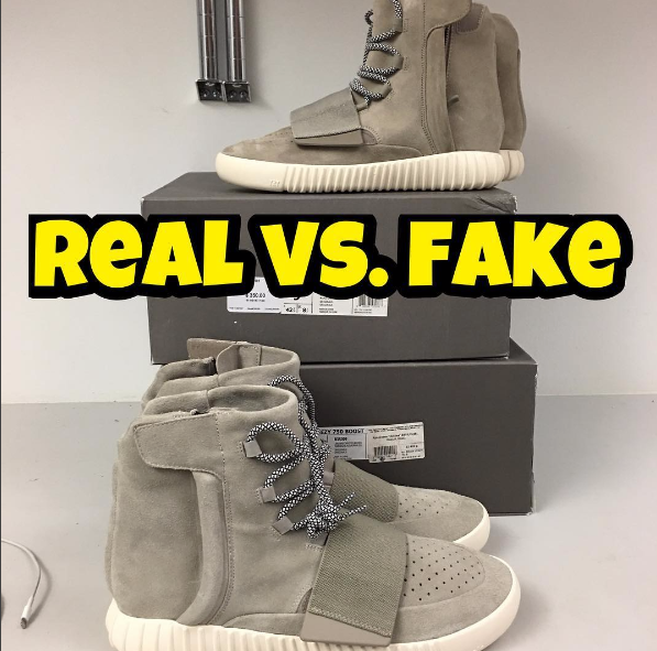 88831ee7f Real Vs. Fake by fake education - Yeezy 750 Boost – Kaviar Kicks