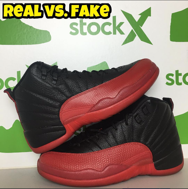 "Next To Real Retro S Fake Retro S: Jordan 12 ""Flue Game"" By @fake_education"