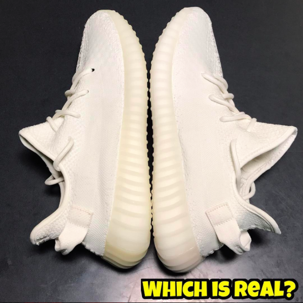 Real Vs. Fake Yeezy Boost 350 V2 Cream by @Fake_Education
