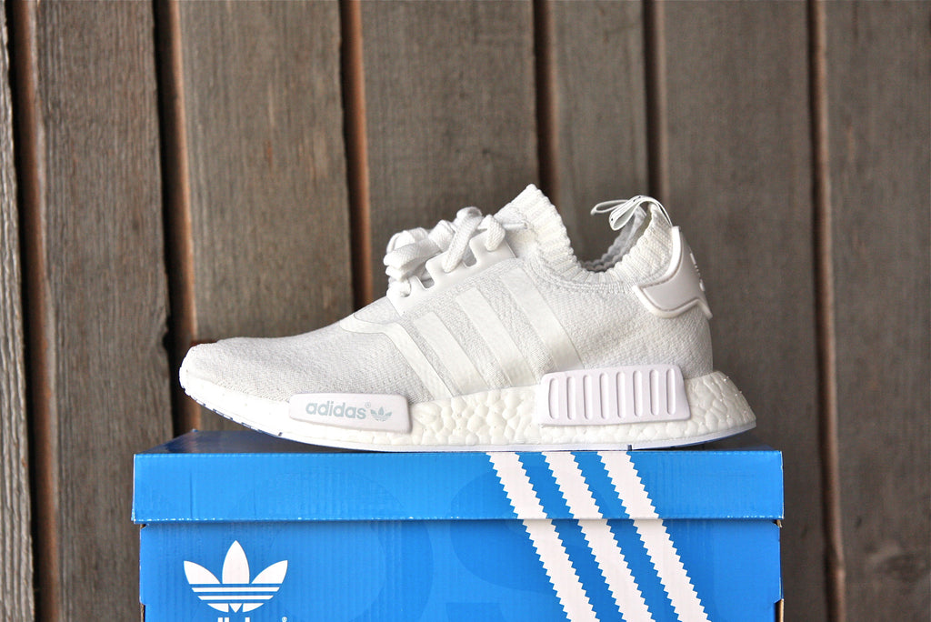 d8b640f3c64a4 Sold Out Adidas NMD R1 PrimeKnit (Core White)